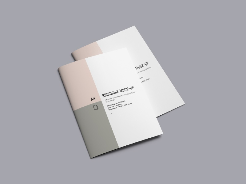 A4 Brochure Mockup template a4 magazine letter mockup brochure download free