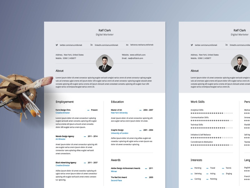 Classy And Classical Resume Template Design That You Can Download For Free  Http://graphicpear.com/classy Resume Template/