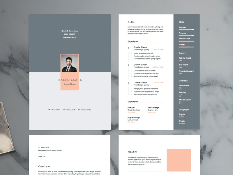 resume template by wassim