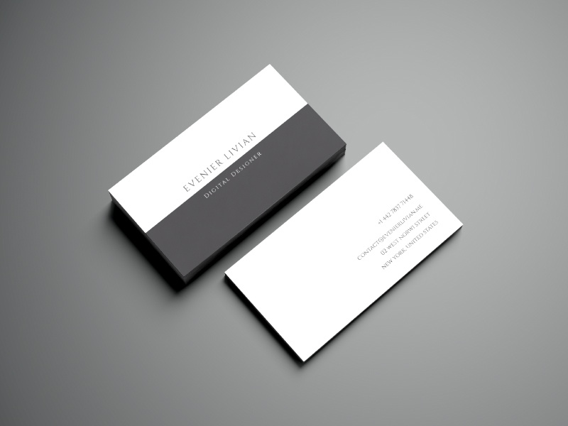 Minimal Business Card Template business card line free icons vector mockup download psd freebie
