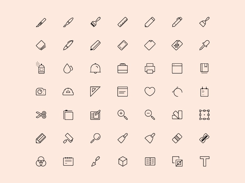 Artist Tools Icons line free icons vector icon artist tools download psd freebie
