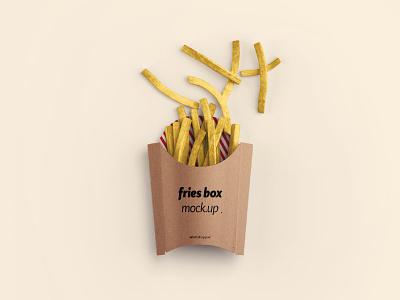 Fries Box Mockup - PSD package mocku-up mockup box fries photoshop psd freebie free