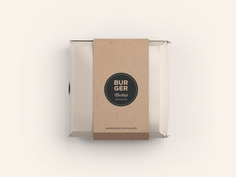 Burger Box Mockup .PSD