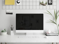 iMac Screen in Workspace Mockup