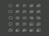 Chat and Support Icons - Vector .Ai