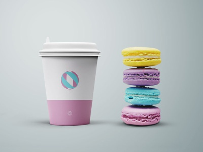 Freebie : Cup and Cookies Mockup - PSD download freebie psd free mockup coffee cup disposable cup psd