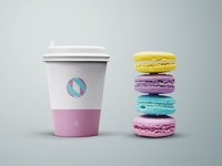 Freebie : Cup and Cookies Mockup - PSD