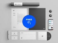 Free Stationery Branding & Identity Mockup