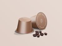 Free Coffee Capsule Package Mockup