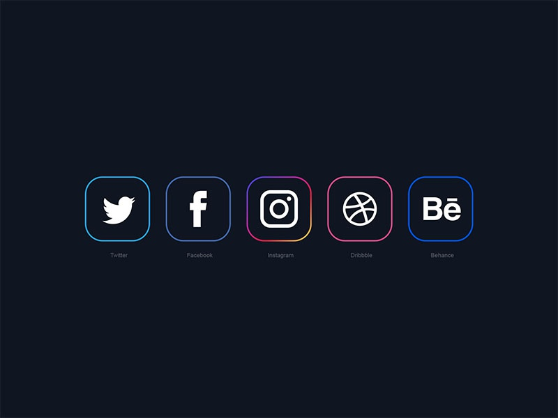 Minimal Social Media Icons 2018 behance icon dribbble icon instagram icon twitter icon facebook icon social media icons free icons freebie free download free