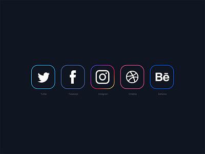 Minimal Social Media Icons 2018 behance icon dribbble icon instagram icon twitter icon facebook icon social media icons free icons freebie free download free