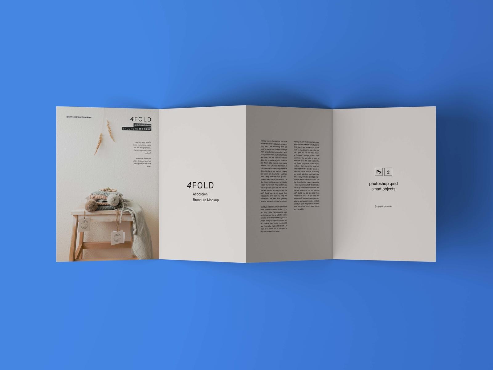 4 fold brochure mockup by wassim dribbble dribbble