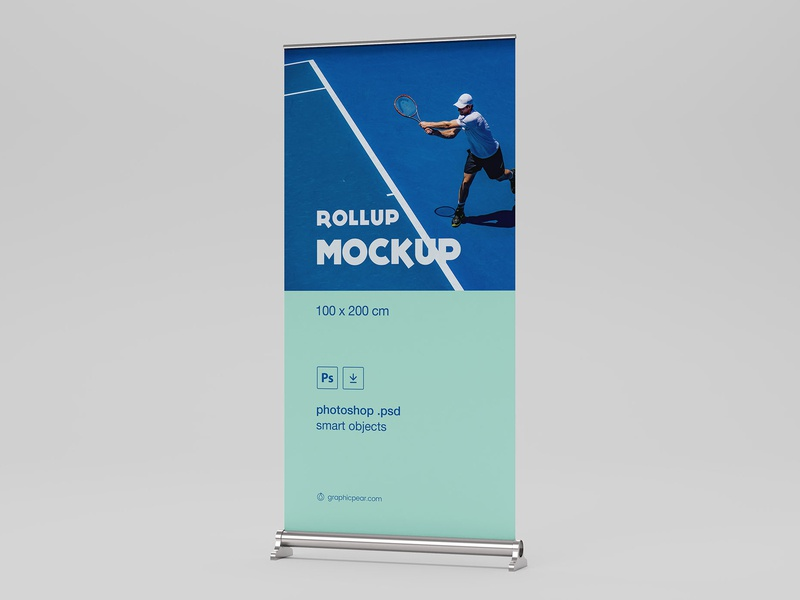 Free Rollup Mockup  (Size : 100 X 200 CM) mockup download free mockup psd mockup mockup psd download free psd free download freebie free