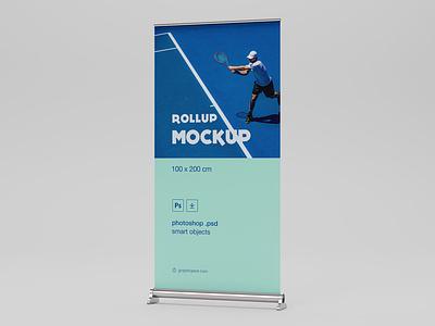 Free Rollup Mockup  (Size : 100 X 200 CM) mockup download free mockup psd mockup mockup psd download free psd free download freebie free