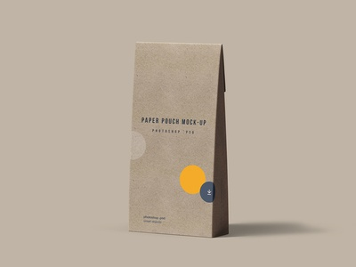 Paper Pouch Mockup PSD