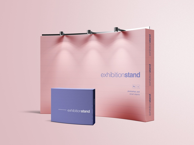 Exhibition Stand Free D Model : Free exhibition stand mockup by wassim ✈ dribbble dribbble