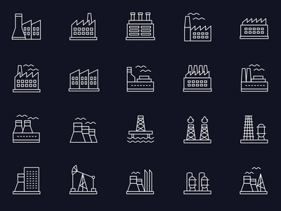Free Vector Industry Icons