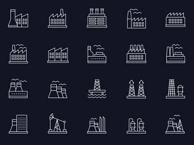 Free Vector Industry Icons template photoshop free download vector mockup freebie psd download free