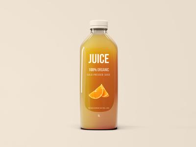 Big Juice Bottle Mockup