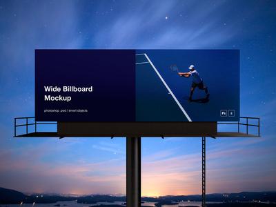 PSD Wide Billboard Mockup
