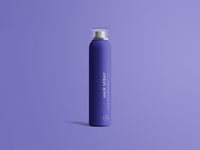 Hair Spray Bottle Mockup