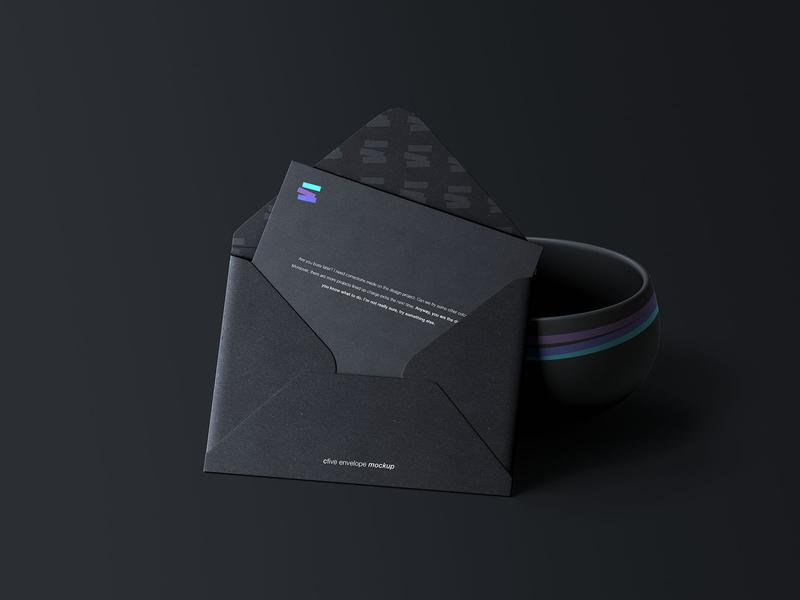 C5 Envelope Mockup Black psd download free download envelope mockup freebie free psd