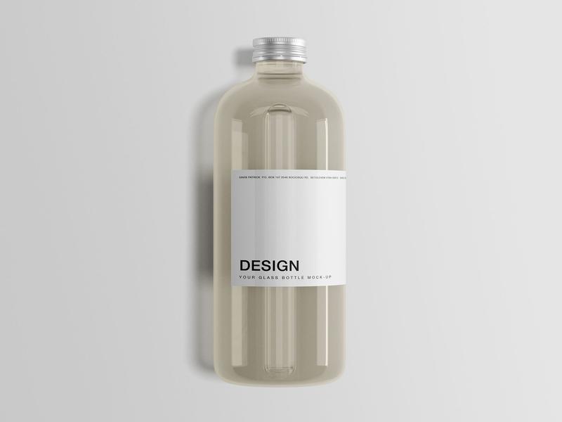 Glass Bottle Mockup By Wassim On Dribbble