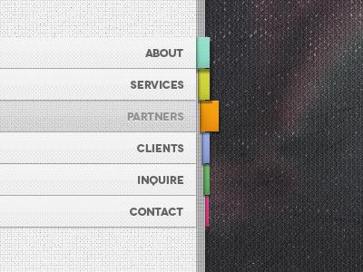 Book like Menu (Free Psd) menu psd free vertical website