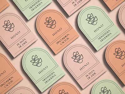 HONU identity pictogram icon design diseño phosotshop tarjetas illustrator vector logo logotype card businesscard nude green softcolors color colorfull branding brand