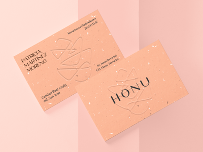 HONU BUSINESS CARD monoline stroke graphicart mexico art advertising publicidad graphicdesign tarjetas color brand branding logotype logotipo letter card bussinescard