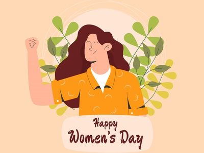 Floral happy women s day flat design vector illustration flat day womens day women happy