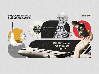 𝐓𝐡𝐞 𝐃𝐫𝐞𝐚𝐦𝐞𝐫 design illustration graphic design abstract subtle collage unsplash skeleton knowledge brain skull dream dreamer rocket fly plane cebu grunge