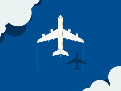 PS 2D Aeroplane Scape illustration
