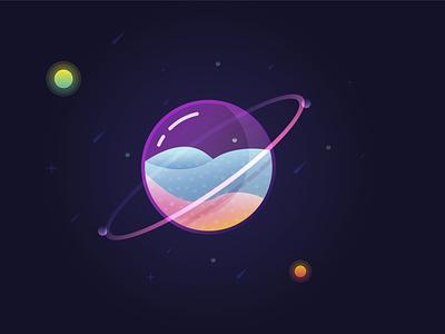 AI Glass Planet illustration