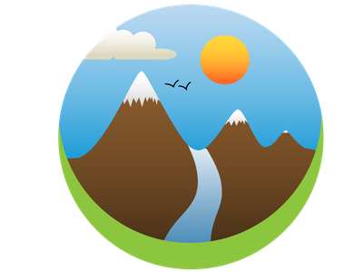 Simple Mountain Logo minimal flat design vector illustration