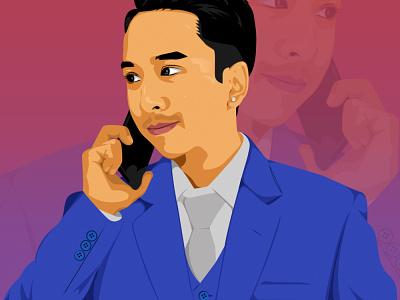 Final Portrait Anup vector illustration