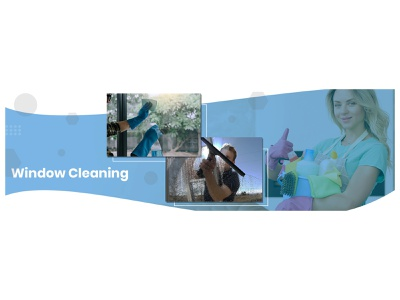 Window Cleaning Service Website Banner window cleaning website banner banner graphicdesign design