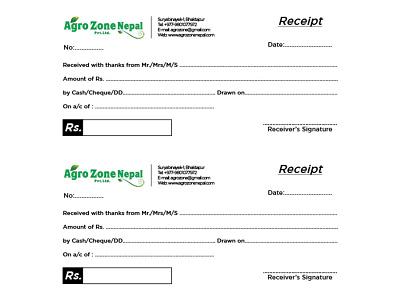 Cash Receipt Design cash receipt branding graphicdesign design
