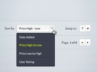 Dropdown Menu - Free PSD file