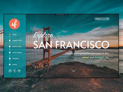 Explore San Francisco san francisco website concept website ui  ux ui web design ui design web design