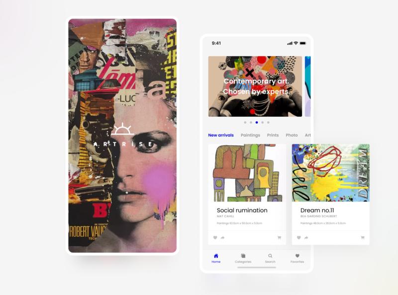 Artshop concept design app ui
