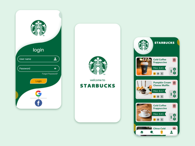starbuck online food coffee cup starbucks ui  ux uidesign animation icon app ux ui design