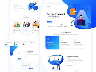 Marketing Agency Landing Page uidesign web dashboad website icon animation ui ux design