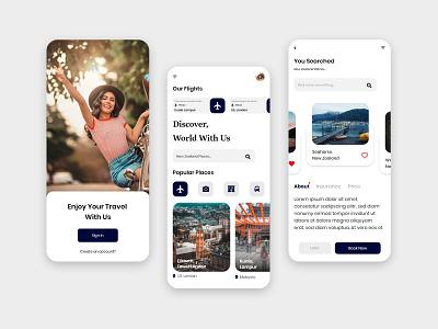 Online Travel Booking App travel online booking travel app traveling uidesign app logo icon animation ux ui design