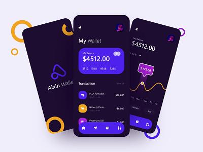 E Wallet App uidesign logo app icon animation ui ux design money transfer wallet