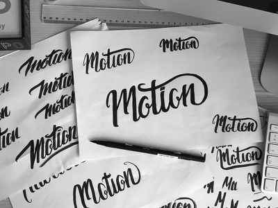 Motion - Hand lettering research hand lettering logo sketch wip lettering