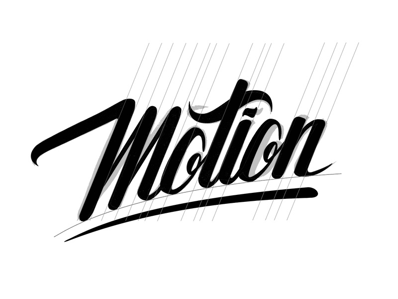 Motion - Vector process hand lettering guidelines vector lettering