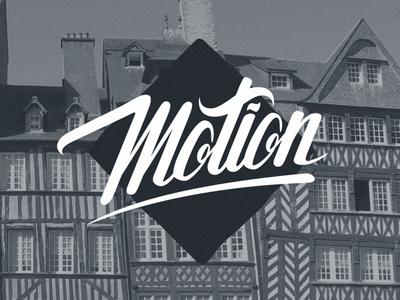 Motion - Final logo hand lettering logotype logo guidelines vector lettering