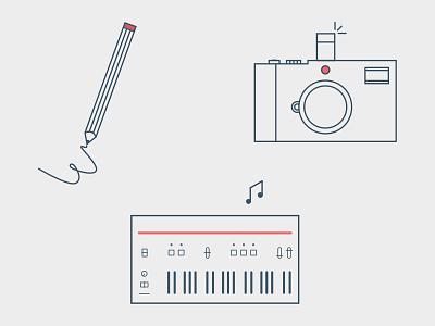 Portfolio Icons lines illustration icons