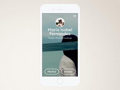 Photographer Profile photography ui app visual design ios